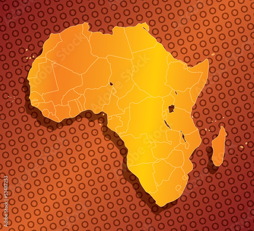 Abstract Africa map with country borders