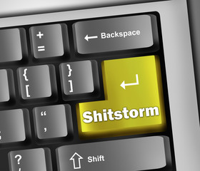 "Keyboard Illustration ""Shitstorm"""