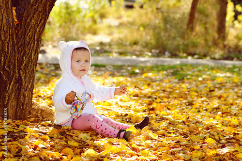 bright fall for baby