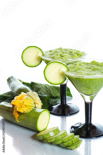 mashed squash in a glass