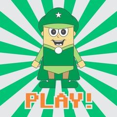 super hero game green man