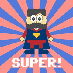 super hero game mustache man