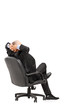 Mature businessman resting in armchair