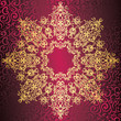 Elegant round lace pattern on seamless background with swirls