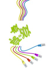 new icon with colourful network cable