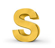 Letter in gold - S