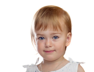 portrait of cute small girl