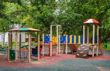 Children playground in the yard
