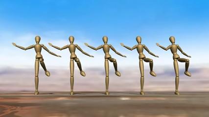 Manikins dancing Can Can