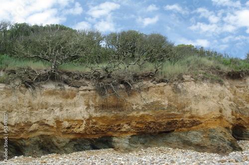 Felsformation an der Atlantikküste in Frankreich