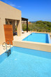 Swimming pools by luxury villas with sea view, Peloponnes, Greec