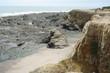 Felsformation an der Atlantikküste in Frankreich 8