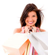 Happy female shopper