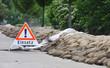 Leinwandbild Motiv Einsatz im Katastrophengebiet