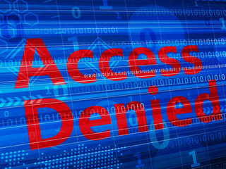 word Access denied on digital background