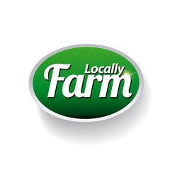 Farm food label, badge or seal