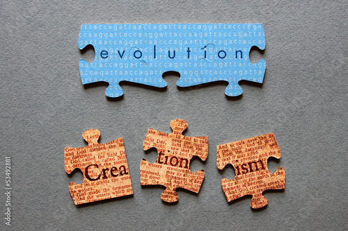 Evolution Matched and Creationism Mismatched Jigsaw