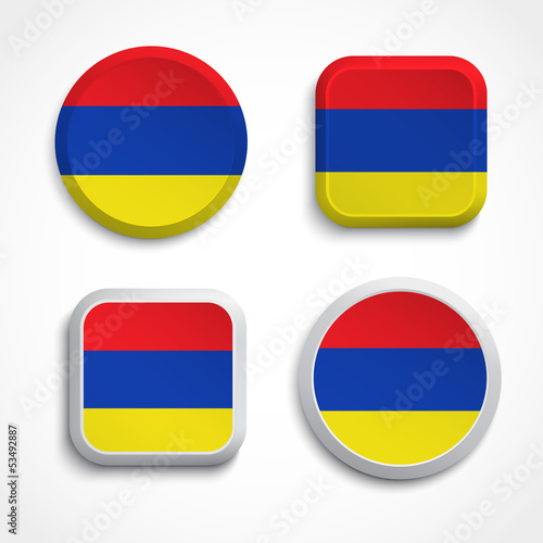 Armenia flag buttons