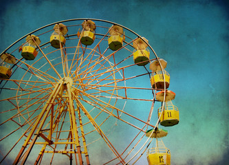 Ferris wheel with grunge effect