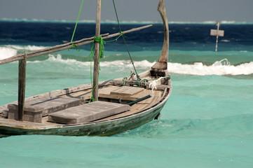 Dhoni boat at Maldives