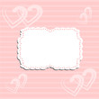 Romantic pattern with frame