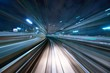 Leinwanddruck Bild - Motion Blur from a Tokyo Monorail
