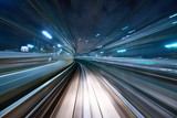 Fototapety Motion Blur from a Tokyo Monorail