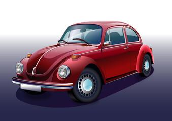 Nostaljik kırmızı otomobil