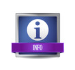 info icon glossy blue reflected square button