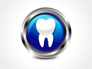 abstract glossy teeth icon