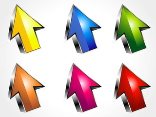 abstract 3d arrow icons