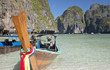 Long tail boat at Phi Phi Leh