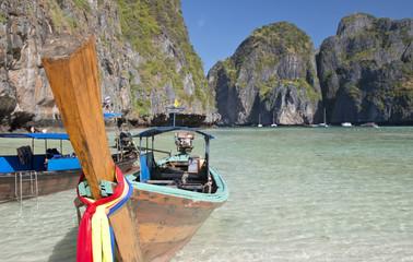 Long tail boat at Phi Phi Leh