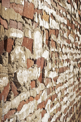 Old Decaying Brick Wall