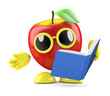 3d Apple reads the manual