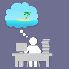 Métro Boulot Dodo - envie de vacances au bureau