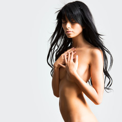 Beautiful topless woman