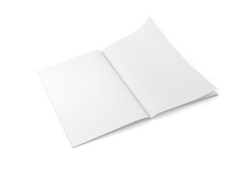Zeitschrift dünn Doppelseite liegend Seite blättern nah