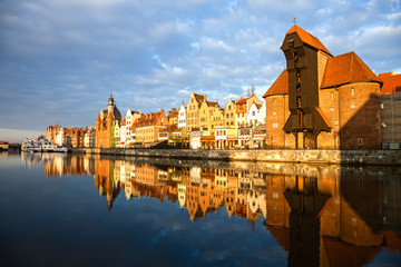 Historic city of Gdansk, Poland.