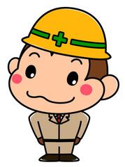 猿の工事作業員