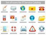 Set of icons for IT Service Catalog