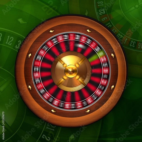 Roulette Wheel Spinning in Casino