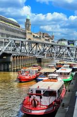 Hafenbarkassen in Hamburg