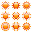 Orange/Red Sun Icons