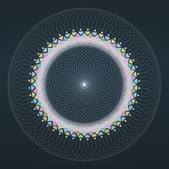 Psychedelic Sacred Flower of Life #1