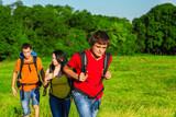 Teenage students enjoying summer