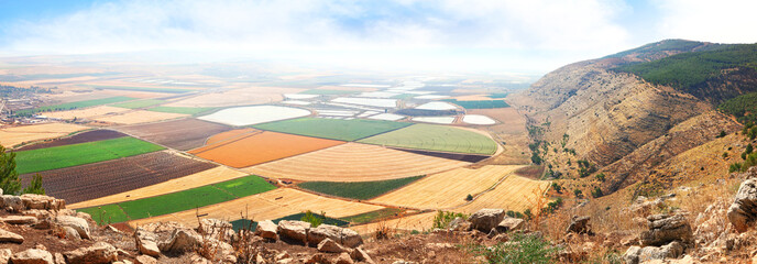 View on agriculture valley