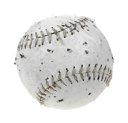 Chewed softball