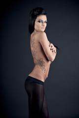 Covered naked girl