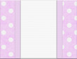 Pink Polka Dot Frame for your message or invitation